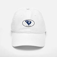 South Carolina Shape Flag Oval Baseball Baseball Cap