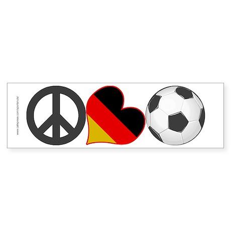 Peace Love Soccer Germany Sticker (Bumper)