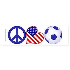 U.S.A. Soccer Fan Sticker (Bumper)