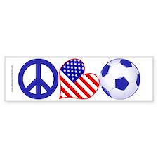U.S.A. Soccer Fan Bumper Sticker