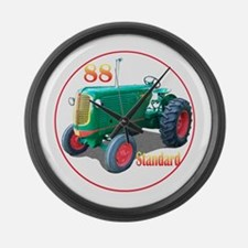 Funny Farm tractor Large Wall Clock