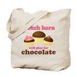 Chocolate French Horn Tote Bag