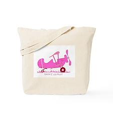 Papa's Co-Pilot Pink Tote Bag