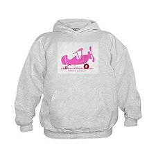 Papa's Co-Pilot Pink Hoodie