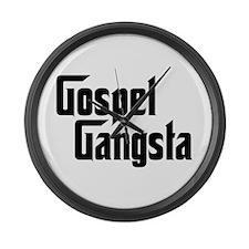 Gospel Gangsta Large Wall Clock
