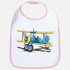 Blue Biplane Bib