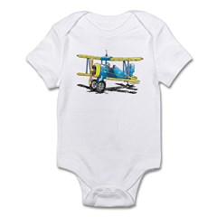 Blue Biplane Infant Bodysuit