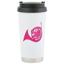 French Horn Silhouette Stainless Steel Travel Mug