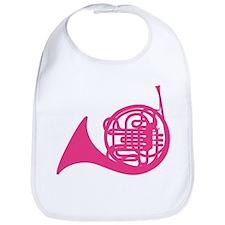 French Horn Silhouette Bib