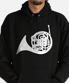 French Horn Silhouette Hoodie