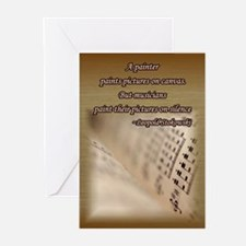 Music Book Greeting Cards (Pk of 20)