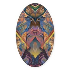 African Sculpture Oval Decal
