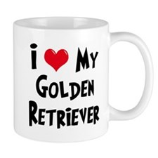 I Love My Golden Retriever Mug