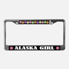 Cute Alaska Girl License Plate Frame Gift