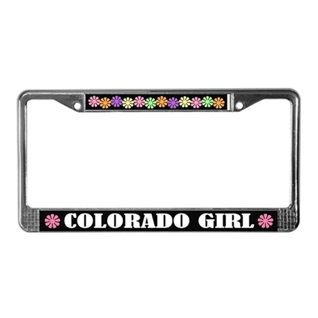 Cute Colorado Girl License Plate Frame Gift