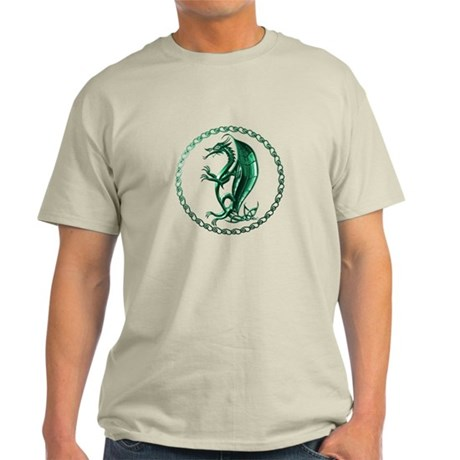 Green Celtic Dragon Light T-Shirt