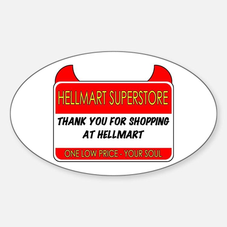 Hellmart Greeting Sticker (Oval)