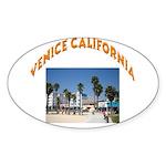 Venice California Sticker (Oval 10 pk)