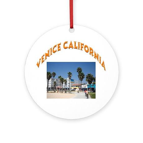 Venice California Ornament (Round)