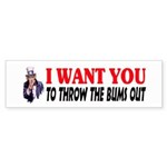 Throw The Bums Out Sticker (Bumper 10 pk)