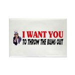 Throw The Bums Out Rectangle Magnet (100 pack)