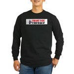 Throw The Bums Out Long Sleeve Dark T-Shirt