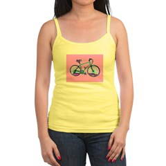Sexy Pink Bicycle Cycling Jr.Spaghetti Strap Top