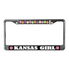Kansas Girl License Plate Frame Gift