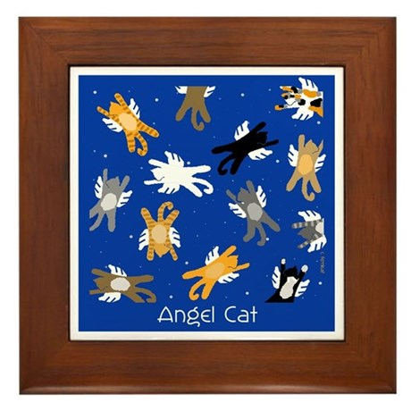 Cat Angels with Wings Framed Tile