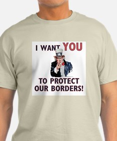 IWU - Protect our Borders! Ash Grey T-Shirt
