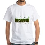 Locavore buy locally realfood White T-Shirt