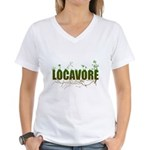 Locavore buy locally realfood Women's V-Neck T-Shi