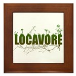 Locavore buy locally realfood Framed Tile