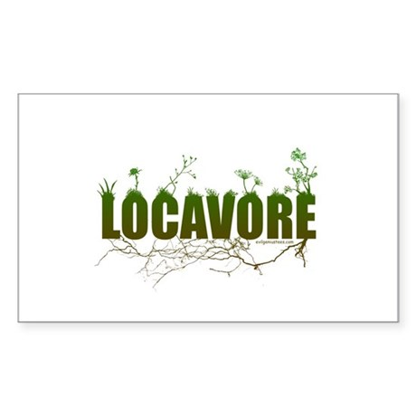 Locavore buy locally realfood Sticker (Rectangle)