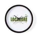 Locavore buy locally realfood Wall Clock