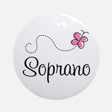 Cute Butterfly Soprano Ornament (Round)