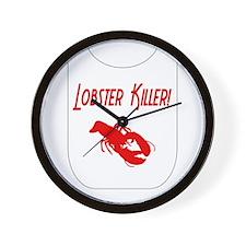 Lobster Killer Wall Clock