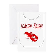 Lobster Killer Greeting Card