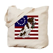 Patriot Brittany Pup Tote Bag