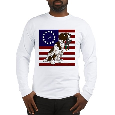 Patriot Brittany Pup Long Sleeve T-Shirt