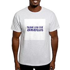Thank God For Armadillos Ash Grey T-Shirt