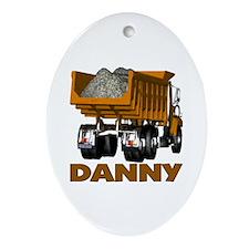 Danny Dumptruck Ornament (Oval)