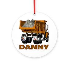 Danny Dumptruck Ornament (Round)