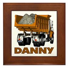 Danny Dumptruck Framed Tile