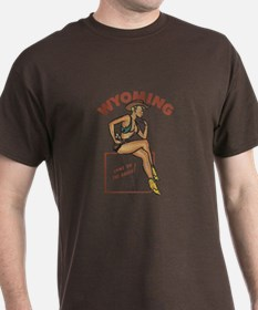 Faded Wyoming Pinup T-Shirt
