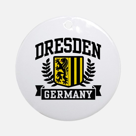 Dresden Germany Ornament (Round)