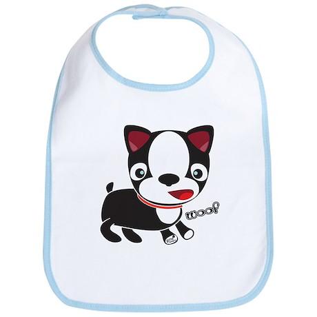 Boston Terrier Puppy -Woof Bib