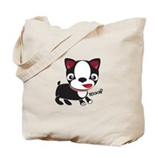 Boston Terrier Puppy -Woof Tote Bag