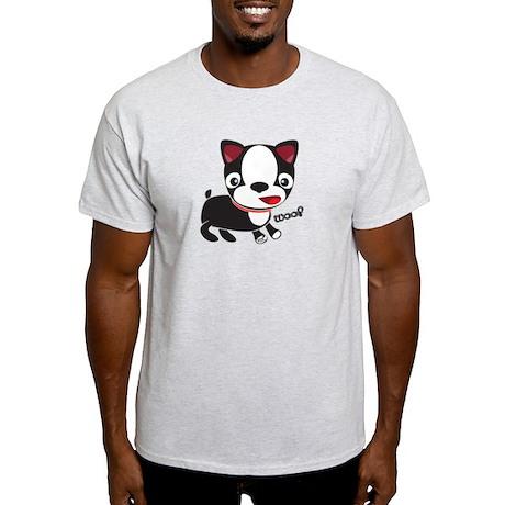 Boston Terrier Puppy -Woof Light T-Shirt