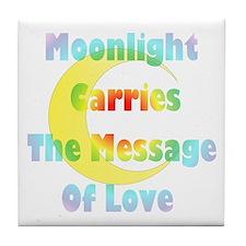 Moonlight Message Tile Coaster